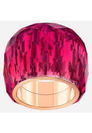 Anello Swarovski Nirvana, rosso, PVD tonalità oro rosa