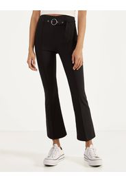 Pantaloni kickflare con cintura