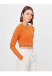 Bershka Maglietta Con Fascette Tipo Volant Donna L Arancione