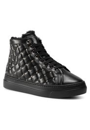 Sneakers STOKTON - 120-D Vitello Nero/Acc Oro