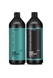 Matrix Total Results High Amplify shampoo (1000 ml), balsamo nutrienti volumizzanti (1000 ml) e spray volumizzante (250 ml)