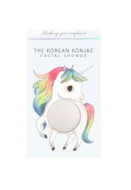 The Konjac Sponge Company Mythical Unicorn Prancing spugna konjac con scatola e gancetto - unicorno - bianco 30 g