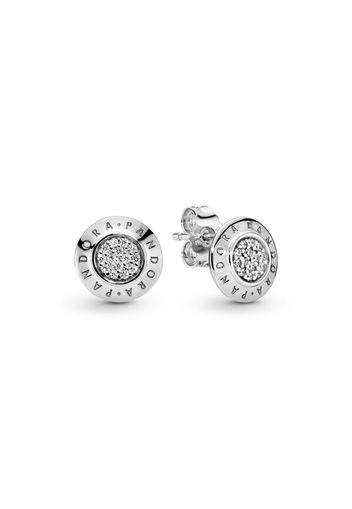 Orecchini A Lobo Scintillanti Con Logo - Argento Sterling 925 / Sterling  Silver