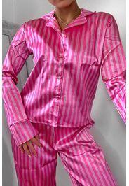 Set pigiama con pantaloni con stampa a righe, Rosa
