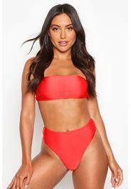Slip bikini a vita alta Mix & Match, Rosso