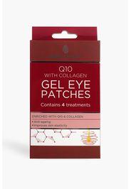 Patch per occhi in gel Skin Academy - Q10 con collagene, Rosso