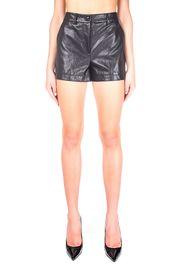 Shorts Nero In Eco-Pelle