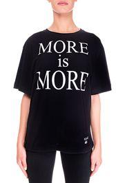 T-Shirt Nera In Cotone Modello More Is More