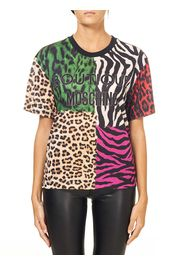 T-Shirt In Cotone Con Stampa Animalier
