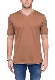 T-Shirt Marrone In Cotone Platinum
