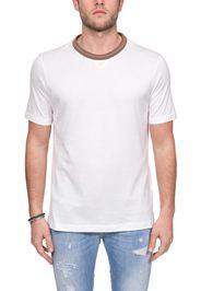 T-Shirt Bianco In Cotone Platinum