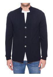 Cardigan Blu In Cotone Linea Platinum