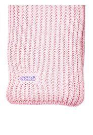 Sciarpa Rosa In Misto Lana Con Applicazione Logo