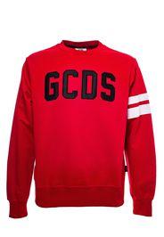 Felpa Rossa In Cotone Con Logo Frontale