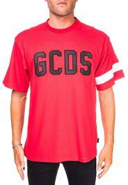 T-Shirt Rossa In Cotone Con Logo