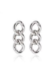 Orecchini pendenti maglie groumette argento 925