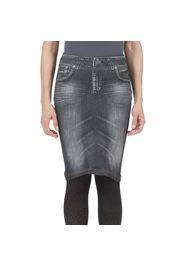 Gonna stampa jeans effetto modellante