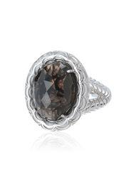 Anello in argento 925 con quarzo fumé