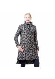 Cappotto jacquard in tessuto con lana con collo a imbuto