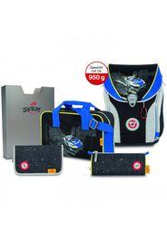 Derdiedas ergoflex max zaino scolastico con accessorio set di 5pz. speed police
