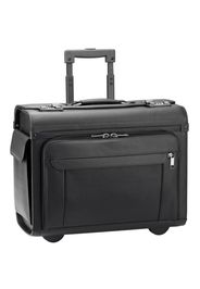 D&n business & travel valigetta a ruote pelle 46 cm compartimenti portatile