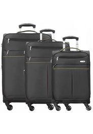 D&n travel line 6704 valigie 4 ruote set di 3pz.