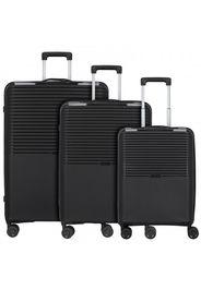 D&n travel line 4000 valigia 4 ruote set 3pz. nero