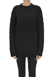 Pullover oversize in misto alpaca