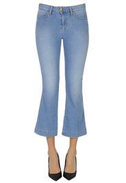 Jeans cropped svasati
