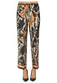 Pantaloni in satin stampato