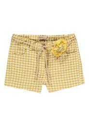 Shorts Quadri Cintura Fiore