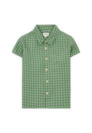 Camicia mezza manica in lino