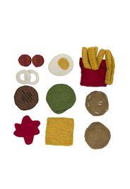 Hamburger e patatine in lana