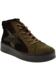 scarpe donna sneakers alte 41586 kaki