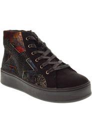 scarpe donna sneakers alte 41586 nero