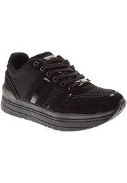 scarpe donna sneakers basse platform 41551 nero