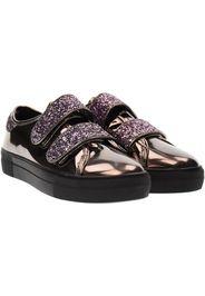 scarpe donna sneakers piattaforma 41386 PIOMBO SPECCHIATO