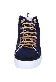sneakers blu tessuto camoscio AG588