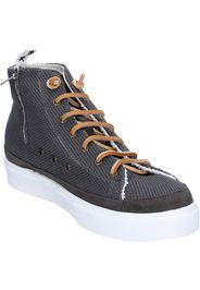 sneakers grigio tessuto camoscio AG589