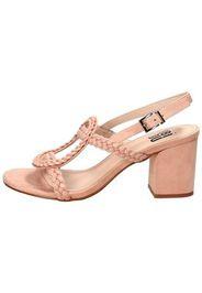 Sandalo in camoscio Rosa