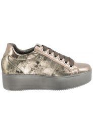 Sneaker Pelle Laminata T.moro
