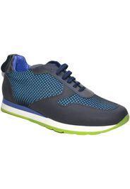 Sneakers bassa uomo art: tokio 103 vera pelle tessuto blu fluo
