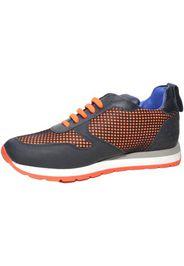 Sneakers bassa uomo art:tokio 101  vera pelle tessuto arancio f