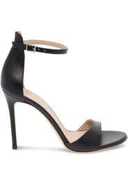 Sandalo con tacco  in nappa nero