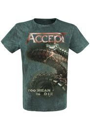 Accept - Too Mean To Die - T-Shirt - Uomo - verde