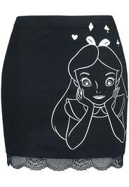 Alice in Wonderland - Alice - Minigonna - Donna - nero
