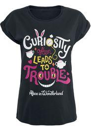 Alice in Wonderland - Trouble - T-Shirt - Donna - nero