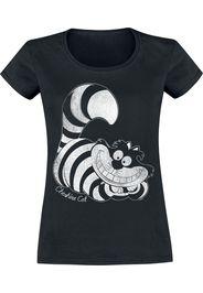 Alice in Wonderland - Stregatto - T-Shirt - Donna - nero