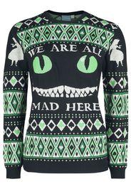 Alice in Wonderland - Winter Madness - Christmas jumper - Donna - multicolore