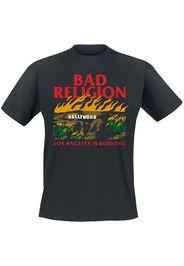 Bad Religion - Burning - T-Shirt - Uomo - nero